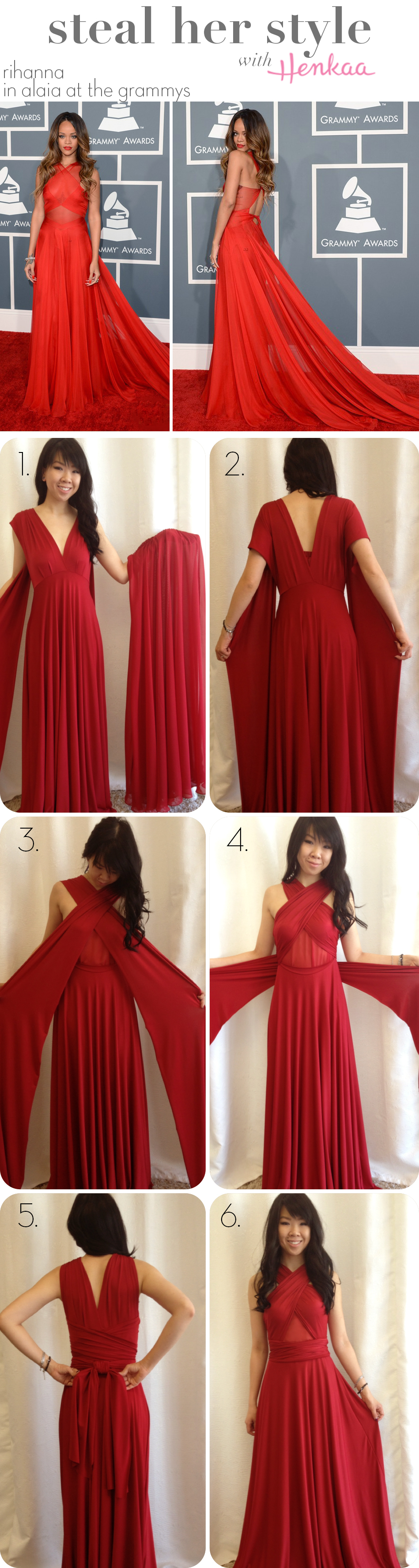 how to dress like Rihanna - how to get a red carpet look - infinity dress on the red carpet